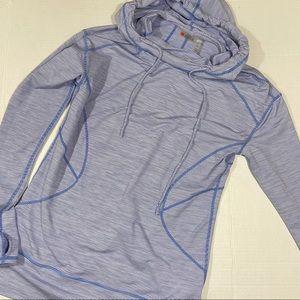 Zella striped hooded running jacket